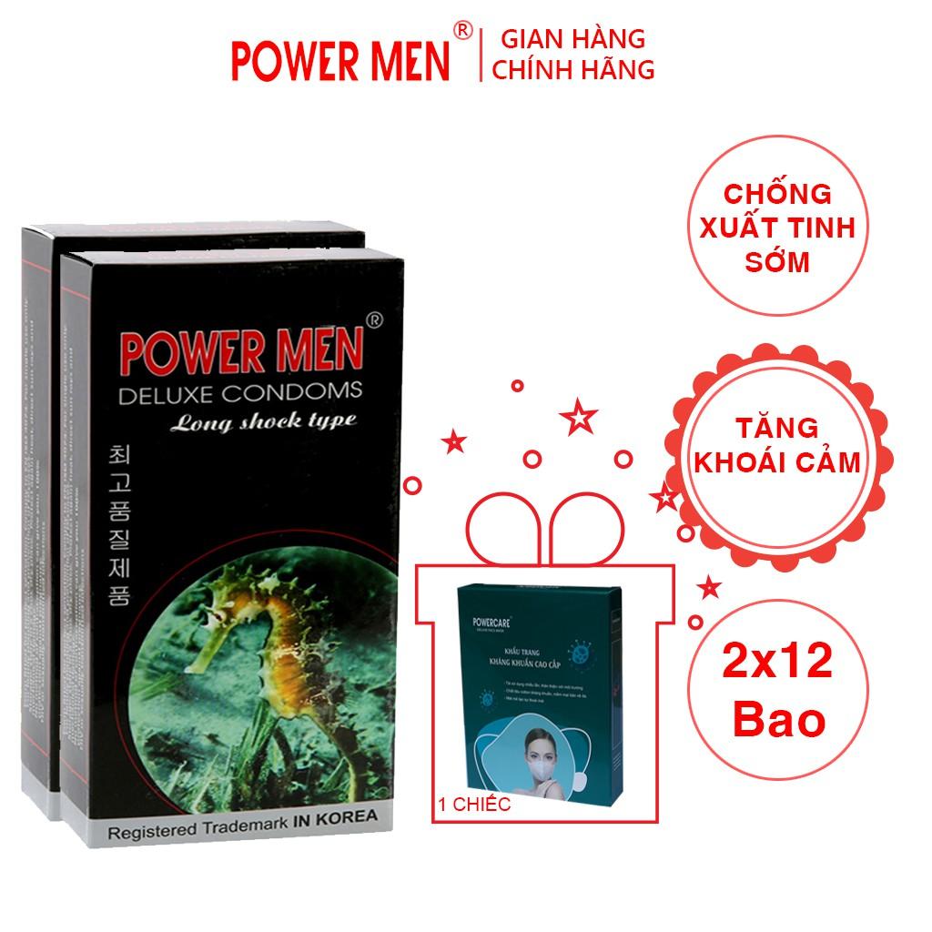 Powermen bao cao su Kéo dài thời gian 24 bao (mã:2CA12-KT)