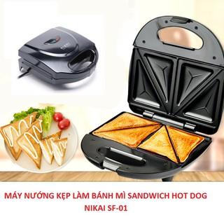 Máy Nướng Bánh Mì Sandwich – Máy Kẹp Nướng Làm Bánh Hotdog Nikai SF01