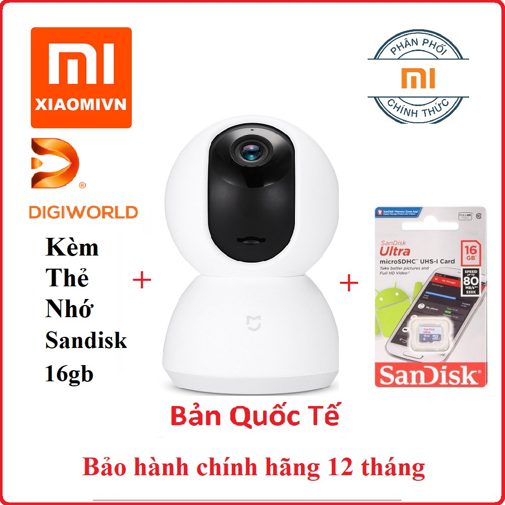 Camera IP xiaomi mijia home security xoay 360 720p Kèm thẻ nhớ 16gb class 10 80mb/s - DiGiWorld - 2670467 , 1249120572 , 322_1249120572 , 877000 , Camera-IP-xiaomi-mijia-home-security-xoay-360-720p-Kem-the-nho-16gb-class-10-80mb-s-DiGiWorld-322_1249120572 , shopee.vn , Camera IP xiaomi mijia home security xoay 360 720p Kèm thẻ nhớ 16gb class 10 8