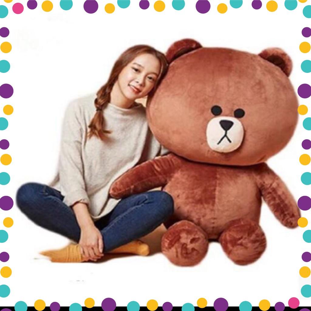 [FREESHIP] (Rẻ nhất shopee) Gấu Bông Brown cao cấp khổ vải 1m4