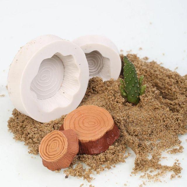 Bộ khuôn silicone trong dẻo hình gốc cây làm bánh, đổ resin