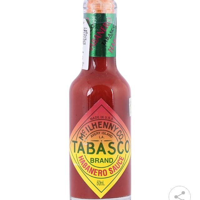 Sốt Ớt Vị Habanero Tabasco Chai 60 ML