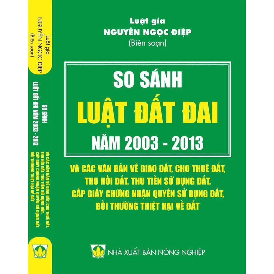 So sánh Luật Đất đai 2003 - 2013