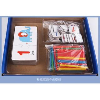 Đồ chơi gỗ Bộ toán học que đếm với phép tính cho bé