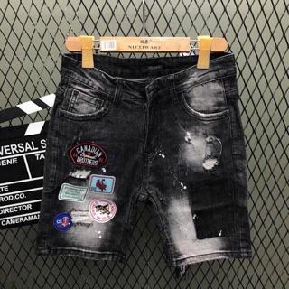 Quần short jean nam ngắn in chữ, rách, kiểu đủ size từ 28-32 chất jean