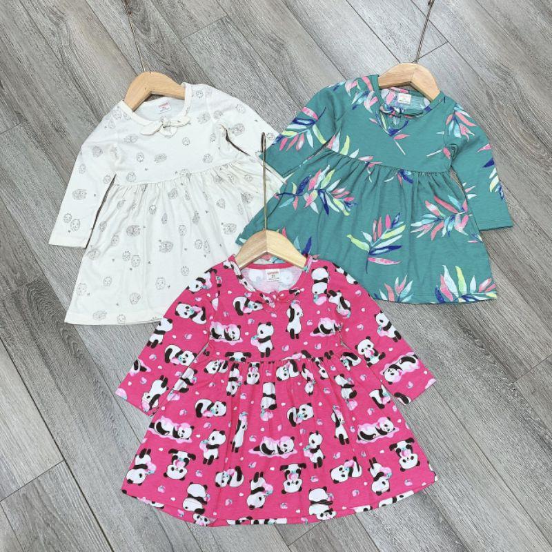 Váy cotton dài tay mùa thu cho bé gái