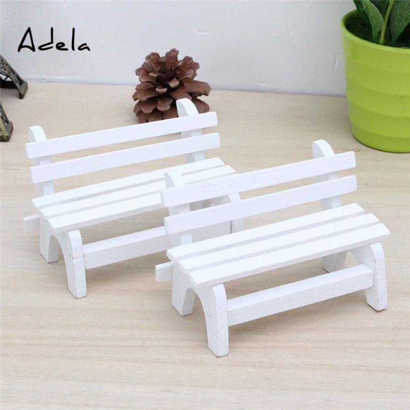 adela Miniature Mini Bench Garden trang Cảnh trí