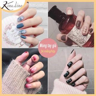 Hộp 24 Móng tay giả, nail giả, móng giả ( Kèm keo )- KinaKino thumbnail