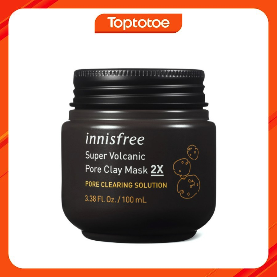 Mặt Nạ Thanh Lọc Và Thu Nhỏ Lỗ Chân Lông Innisfree Jeju Volcanic Pore Clay Mask 2X 100Ml
