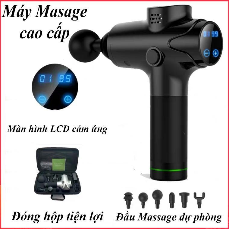 Máy Massage Cầm Tay Không Dây EM003, Máy Massage Rung 20 Chế Độ, 6 Đầu, Máy Masage Giảm Đau Mỏi Cơ Bắp