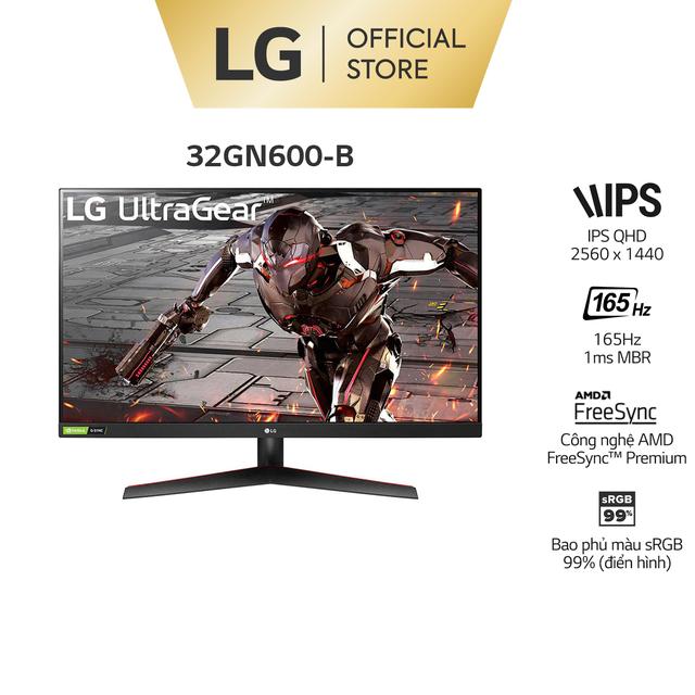 """Màn Hình LG 32GN600-B UltraGear™ 31.5"""" VA QHD 165Hz 1ms MBR AMD FreeSync™ HDR"""