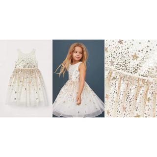 Váy xòe sequin công chúa trắng star HM H&M _hàng chính hãng authentic