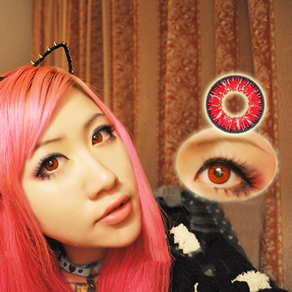 Simrises Unisex Big Eye Makeup Charming Colored Contact Lenses Beauty Cosmetic Tool
