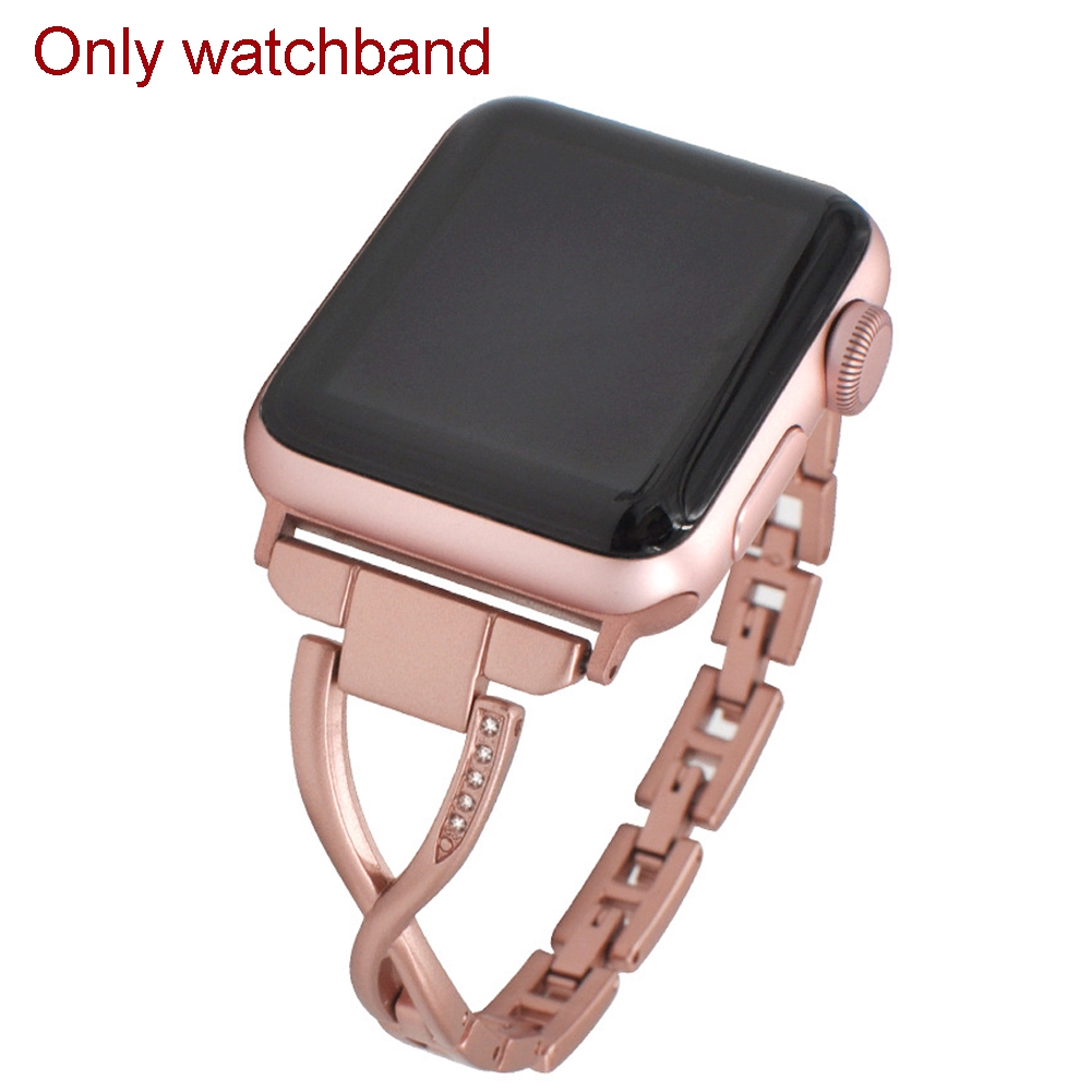 Luxury Fashion Gift Accessories Diamond Watch Strap Solid Durable Replacement For IWatch