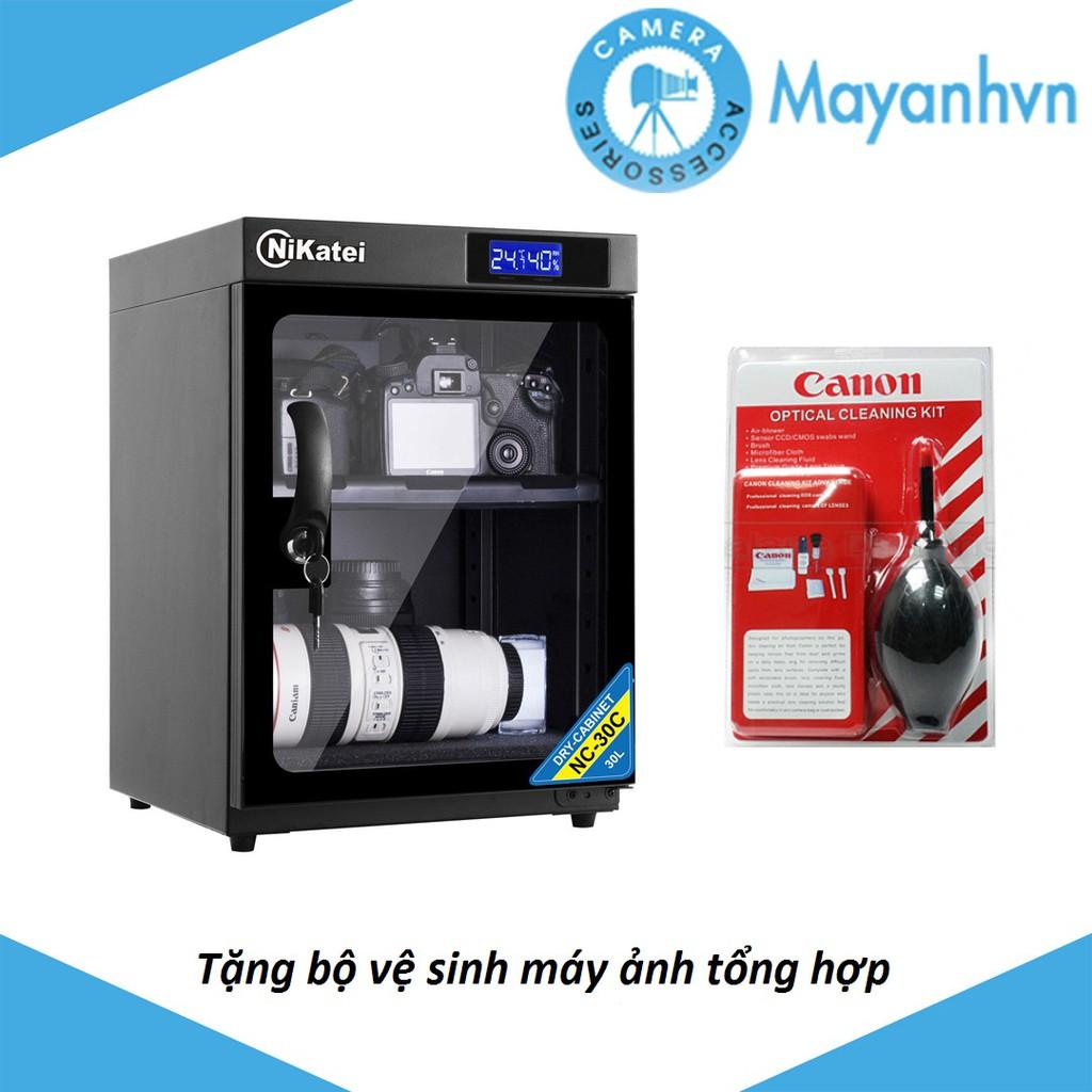 Tủ chống ẩm Nikatei NC-30C (30L) + Tặng bộ vệ sinh máy ảnh tổng hợp