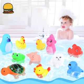 Baby Kids Bath Toy Cartoon Animals Shower Toys Bathroom Water Bath Early Education Playing Toy