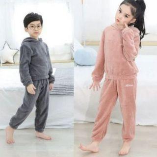 Bộ quần áo Lông Cừu D.Studio siêu yêu cho Bé và Mẹ [Clip thật].