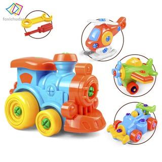 FCD Children DIY Disassembling Plane Car Building Blocks Model Tool with Screwdriver Assembled Educational Toys