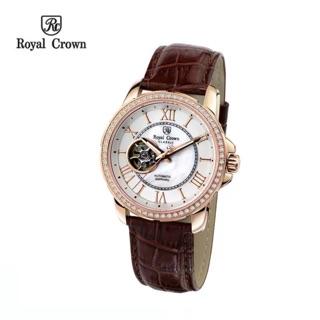 Đồng hồ nam Chính Hãng Royal Crown 8426ST-RG (Automatic) dây thép vỏ vàng hồng