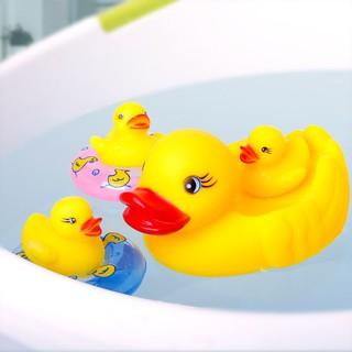 6Pcs Yellow Rubber Ducks Family Squeezed Fun Bath Time Toy Children Swim Rings