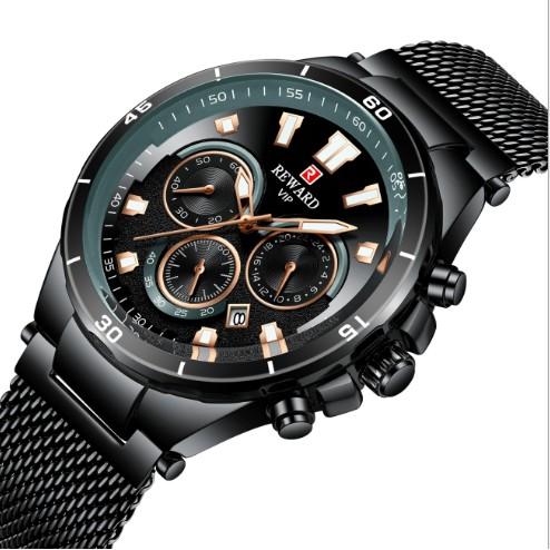 Đồng hồ thời trang nam RD63078M Bạc Xanh Hãng REWARD