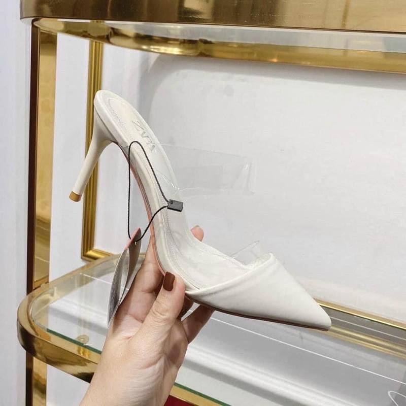 Giày Cao Gót Nữ Công Sở phối quai trong