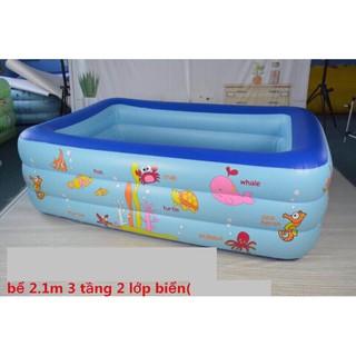 (Free ship Tp hcm )bể bơi 2m1, 3 tầng, 2 lớp(+bơm điện)