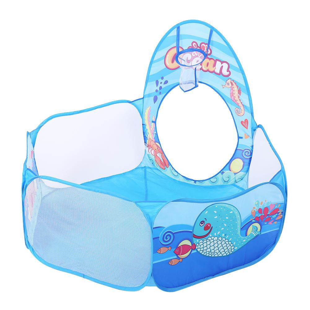 ★READY STOCK AND COD★3 in 1 Foldable Kids Crawl Tunnel Play Tent Baby Ocean Ball Pool Toy Kit★★