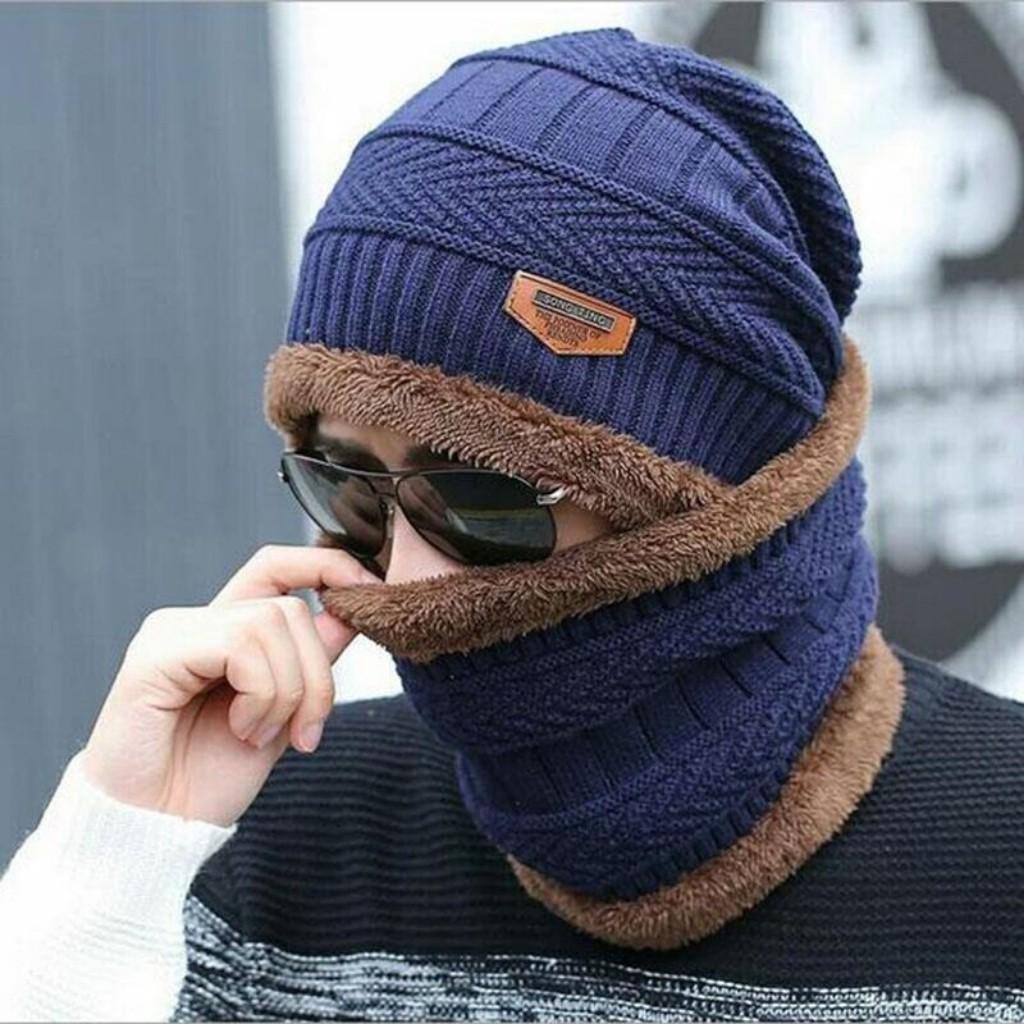 Mũ Len Nam Nữ Kèm Khăn Cổ Hàn Quốc Cao Cấp 2020