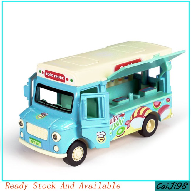 [CJ] Simulation Alloy Car Model Ice-cream Vans Model Light and Sound Children Car Toy