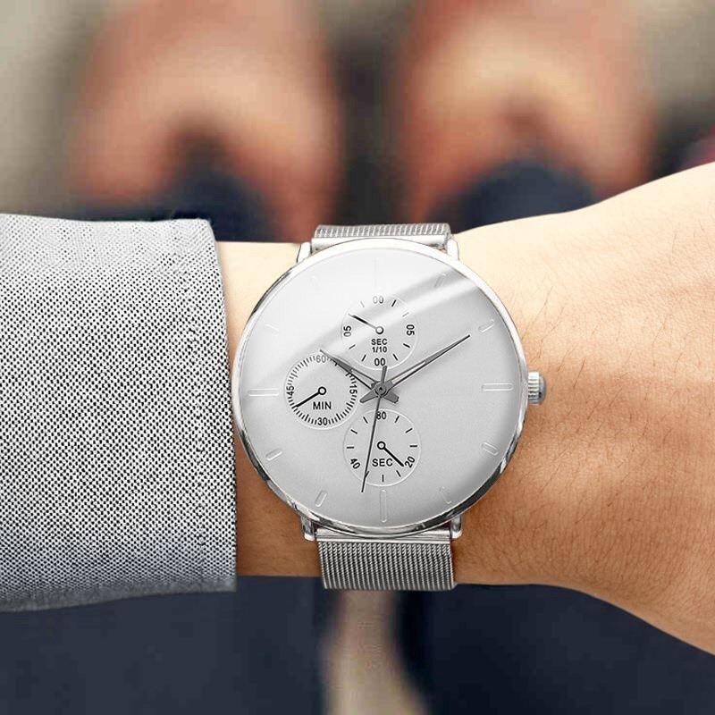 Đồng hồ nam YOLAKO dây thép lụa cao cầp