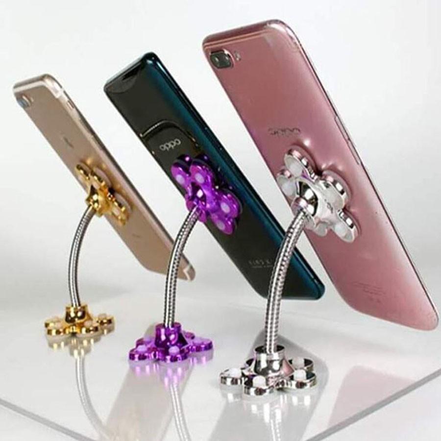 (Freeship 99k ) Giá đỡ điện thoại hình bông hoa đế hút chân không tiện lợi