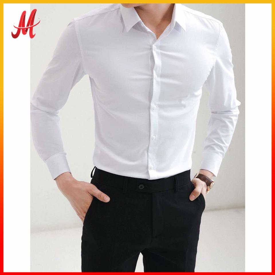 áo sơ mi trắng nam không nhăn xù có nhiều màu lựa chọn