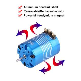 2 Poles 540 4.5T/13.5T Sensored Brushless Motor RC Part for 1/10 Remote Control Car