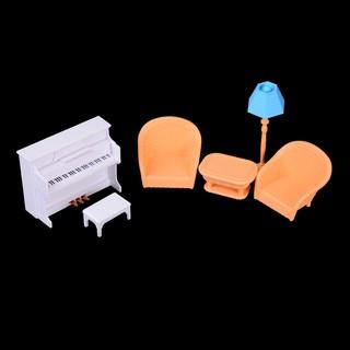 SUN11❤❤ Dollhouse Sofa Piano Table Miniature Furniture Toy For Doll Fami