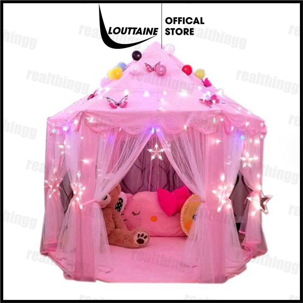 Lều công chúa cho bé- Lều ngủ công chúa hình lục giác size lớn 1.4×1.4×1.35 mét