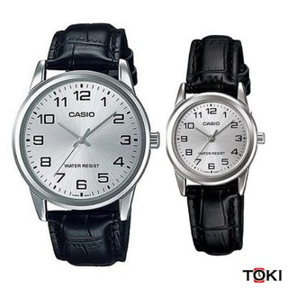 Đồng hồ đôi Casio MTP-V001L-7BUDF & LTP-V001L-7BUDF dây da
