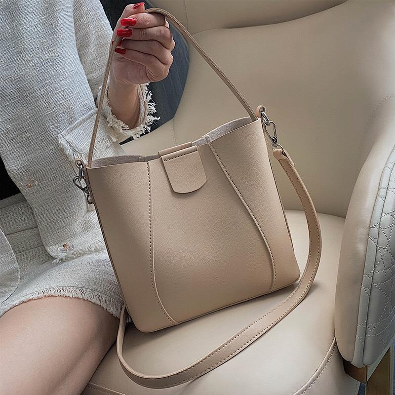 [Video Thật]Túi xách nữ đeo chéo thời trang da mềm size to bản to