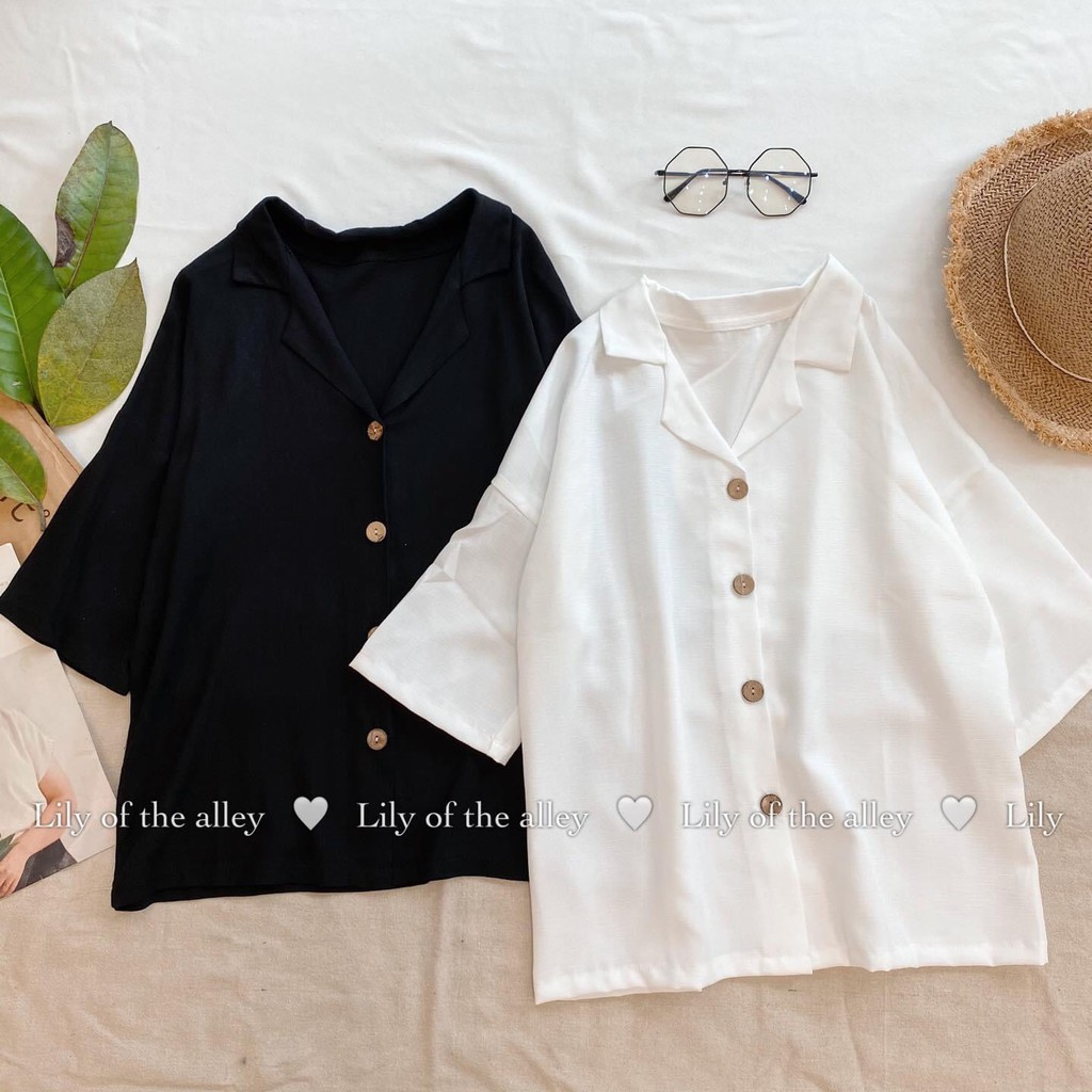 Sơ mi đũi cổ vest Lily sale (inb chọn màu)