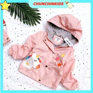 Áo khoác gió bé gái 3 màu bên trong lót cotton bên ngoài là lớp dù chống nước hàng xuất cao cấp