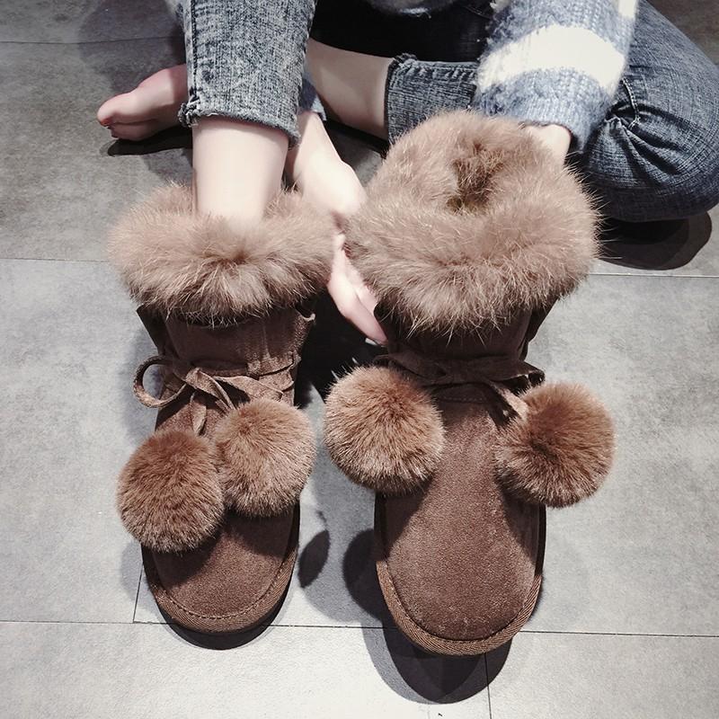 【จัดส่งฟรี】ม่ฤดูใบไม้ร่วงและฤดูหนาวเวอร์ชั่นเกาหลีของรองเท้าผ้าฝ้ายป่ารองเท้าสั้น