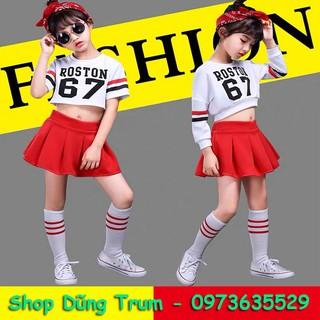 Bộ nhảy Aerobic hiện đại, đồng phục nhảy nhóm cả bé trai và bé gái