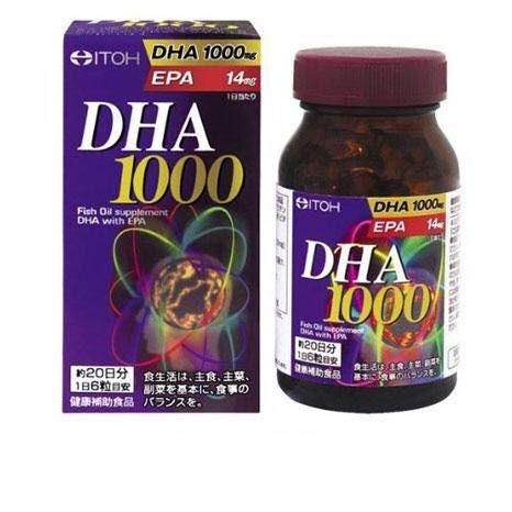 Thuốc bổ não DHA 1000mg & EPA 14mg Itoh Nhật Bản 120 viên