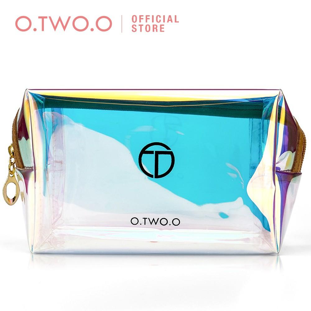 Túi đựng mỹ phẩm O.TWO.O thiết kế khóa kéo nhiều màu sắc tiện dụng 85g 11cm * 16cm * 8cm