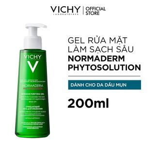 Sữa rửa mặt dạng gel làm sạch sâu giảm bã nhờn Vichy Normaderm Phytosolution 200ml