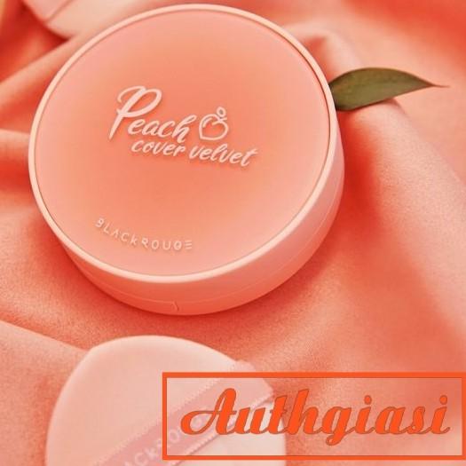 [Mã COS1111 giảm 8% đơn 250K] Phấn nước Black Rouge Peach Cover Velvet Cushion độ che phủ tốt giúp da mịn màng