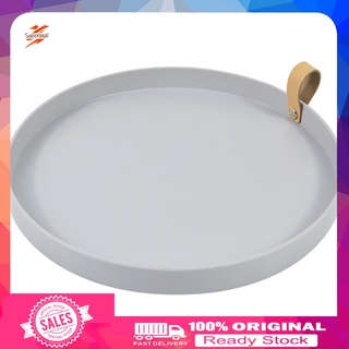 Supermal Lightweight Jewelry Dish Simple Design Round Storage Trays Space Saving for Home
