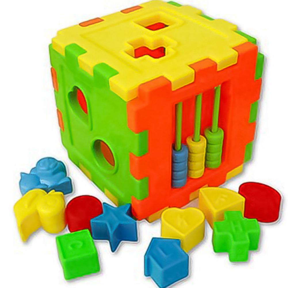 Kid DIY Educational Play Games Animal Shape Alphabet Block Cube Toddler Baby Toy 8PZL