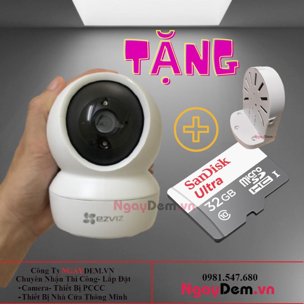 Camera Wifi Không Dây Giám Sát Gia Đình  Ezviz CV246 C6N Full HD 1080P 2MP- Xoay 360-Đàm Thoại Loa 2 Chiều-4587