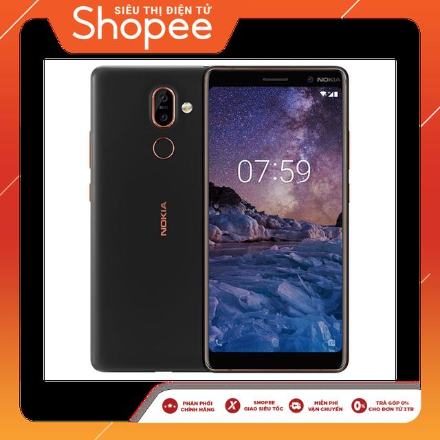 [Trả góp 0%] Điện thoại Nokia 7 plus - Black/copper - Chính hãng